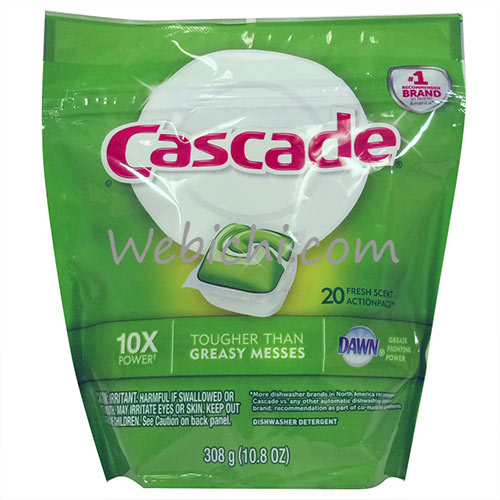 P&G CASCADE Actionpacs Dishwasher Detergent Fresh