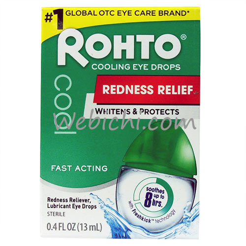 Mentholatum ROHTO ( E)cool Redness Reliever / Lubricant Eye Drops
