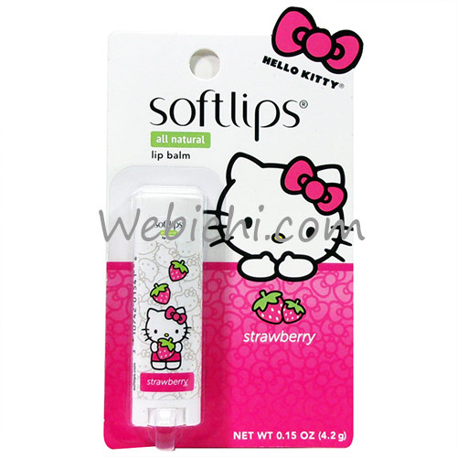 Mentholatum SOFTLIPS Lip Balm Hellokitty Strawberry