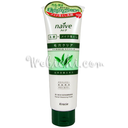 Kracie NAIVE Makeup Cleansing Foam Green Tea
