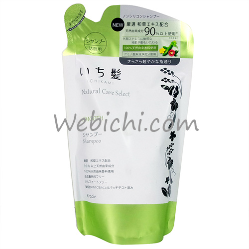 Kracie ICHIKAMI Natural Care Select Smooth Shampoo Refill