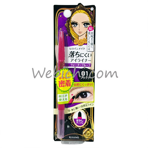 Kiss Me HEROINE MAKE Quick Eye Liner 01 Black