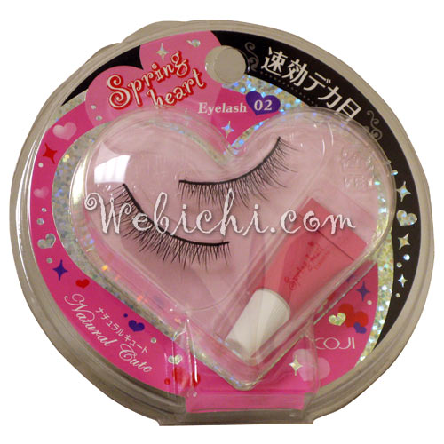 Koji SPRING HEART False Eyelashes #2 Natural Cute